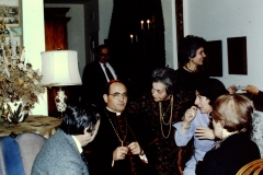 Florence Wolsky at Cardinal Caprio Reception